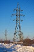 Linee elettriche di affidamento — Foto Stock