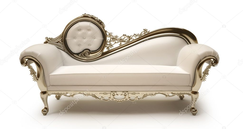Luxurious sofa isolated on white background   Stock Photo #4142470
