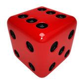 červené kostky — Stock fotografie
