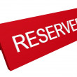 Foto Stock: Reserved sign