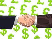 Pound Dollar deal — Stock Photo