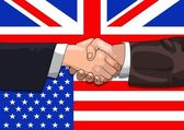 UK US deal — Stockfoto