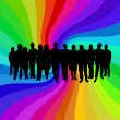 Rainbow crowd — Stock Photo #5302862