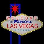 Las Vegas night sign — Stock Photo