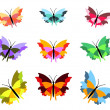 Nine Butterflies — Stockfoto