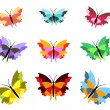 Nine Butterflies — Stock Photo