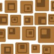Retro brown squares — Foto de Stock