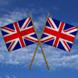 United kingdom flags — Stock Photo