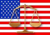 Amerikanische justiz — Stockfoto