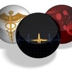 esferas médicas — Foto de Stock