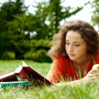 Stock Photo: The girl with books