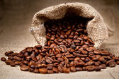 Coffee Beans in a Bag — Foto de Stock
