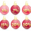 Stock Vector: Xmas ball sale