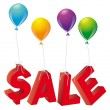 Stockvector : Sale word single on balloons