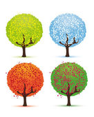 Four seasons - spring, summer, autumn, winter. — Stockvector