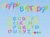 The alphabet from balloons — Stock Vector