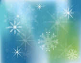 Vector Christmas background with white snowflakes — Stock Vector