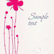 Stock vektor: Beautiful flowers card