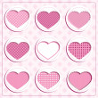 Card with hearts, vector — Stock Vector