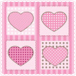 Card with hearts, vector — Vector de stock #4548735