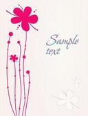 όμορφα λουλούδια κάρτα — Διανυσματικό Αρχείο