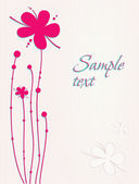 Beautiful flowers card — Vector de stock