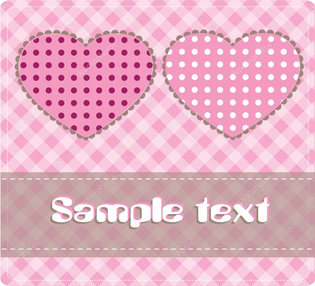 Card with hearts, vector  — Stock Vector #4548728