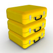 Briefcase Yellow suitcase with money — Stock Photo #4696711