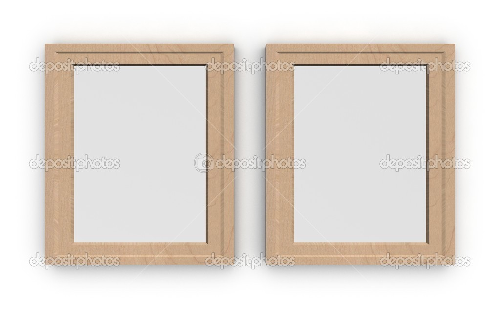 Empty pictures on a wall — Stock Photo #4758366
