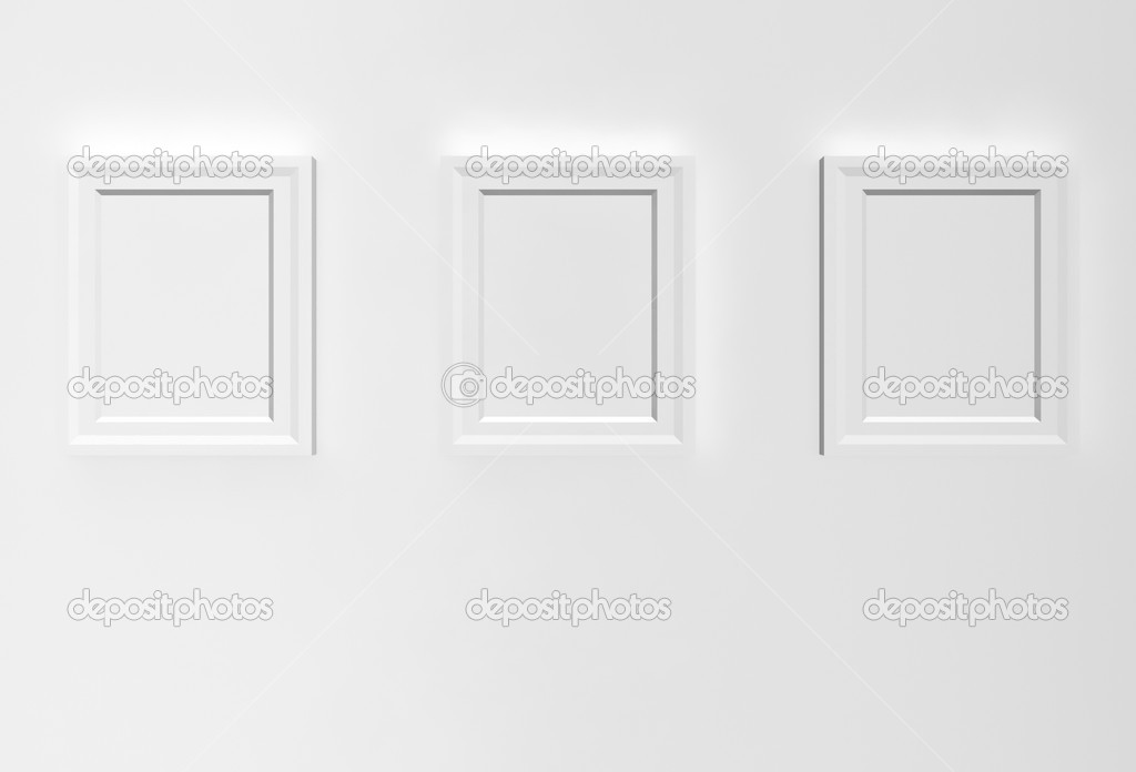 Empty pictures on a wall — Stock Photo #4758368