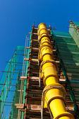 Pára-quedas site-entulho de construção — Fotografia Stock