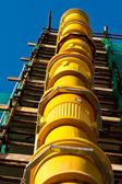 Construction Site-Rubble Chute — Stock Photo