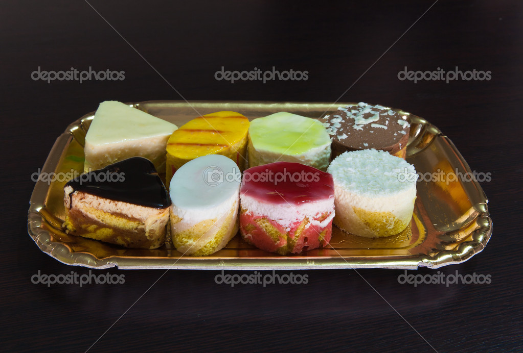 Diversity of pastry decorated  Stock Photo #5278383