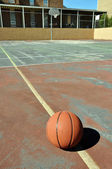 Outdoor Basketball Court — Stock Photo