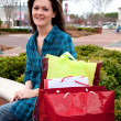 Female Shopper Resting — Stock Photo