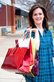 Attractive Young Female on Shopping Spree — Stock Photo