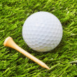 Golf Ball and Tee — Stock Photo