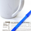 Form 1040 - Stock Photo