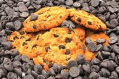 Chocolate Chip Cookies and Morsels — Stock Photo