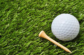 Golf Ball and Tee with Copy Space — ストック写真