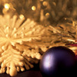 Christmas ball on abstract light background,Shallow Dof. — Stock Photo