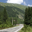 Transfagarasan - road on a high mountain - Stock Photo