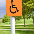 Stock Photo: Wheelchair sign