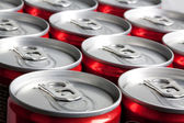 A lot of cans — Stock Photo