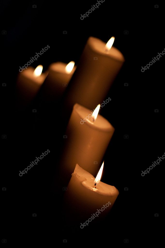 Five burning candles — Stock Photo #5055767