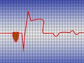 Coração de ecg — Vetorial Stock