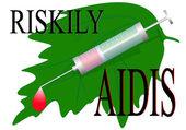 Riskily infect AIDIS — Stock Vector
