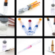Collage of medical products — Stock Photo
