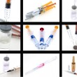 Collage of medical products - Stockfoto