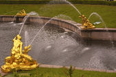 "Fragment of a fountain of ""Samson"" in Peterhof — Stock Photo"